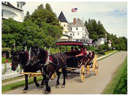 Horse drawn carriage is a favorite mode of transportation on the Island