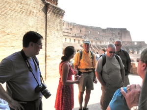 our guide at the Colosseum