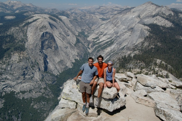 At the top of Half Dome