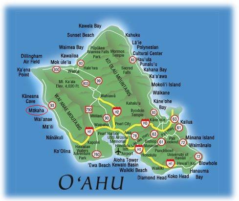 OahuMapMakaha