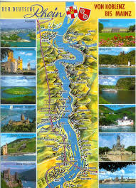 map of the castles on the Rhine River