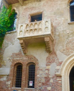 "The ""famed"" Juliet balcony"