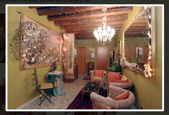 Ca' Bella website lobby picture