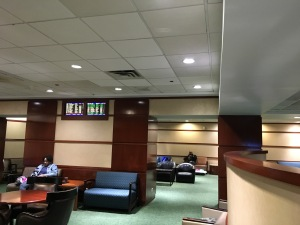 early morning at the lounge in Union Station, Chicago. It will get much more crowded the closer to departure.