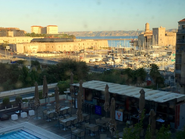 view from our room at the Radisson Blu Waterfront