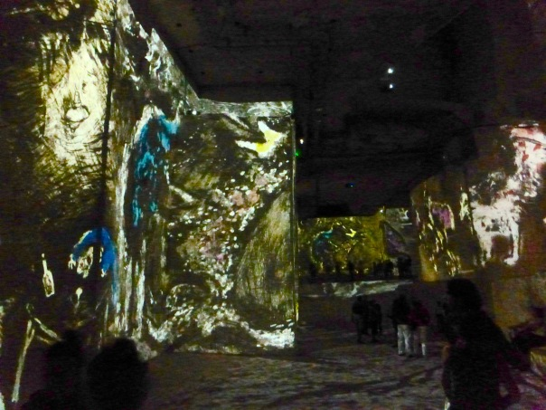 the images projected on the walls and floor. It was like a carpet that we were walking on.